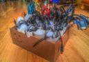 Eine einfache Lösung um Kabel zu lagern